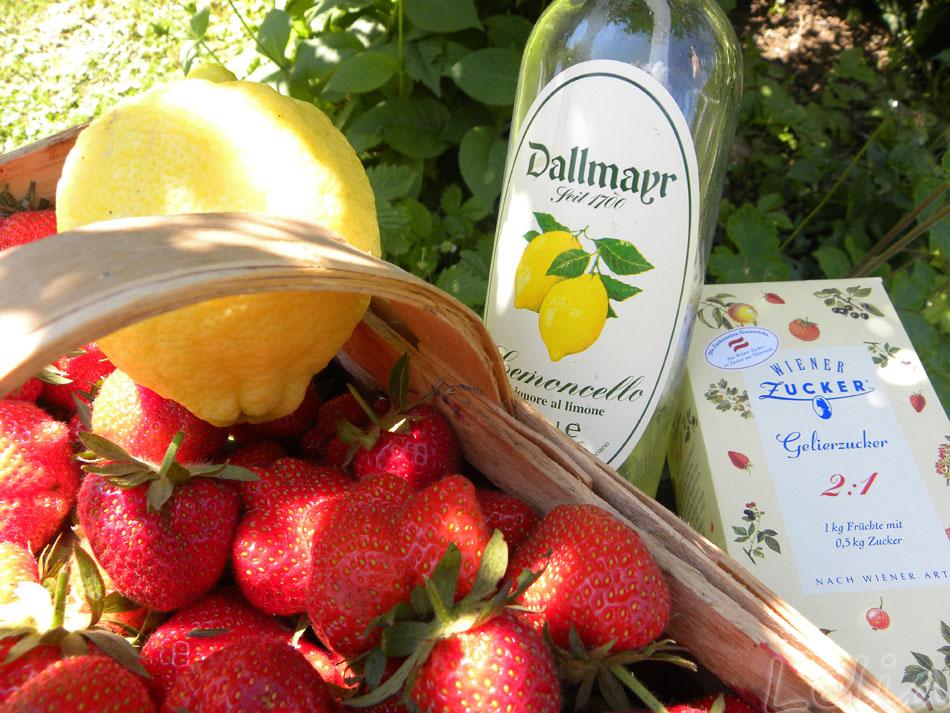 Zitronen-Erdbeer-Marmelade