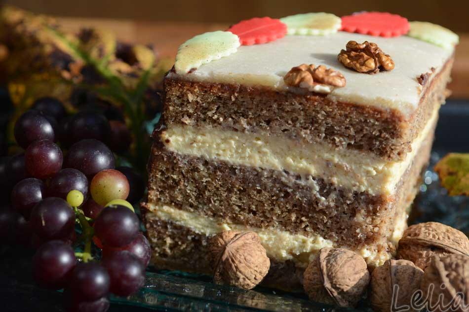 Walnußtorte mit weißer Schokoladencreme…für den ersten Adventsonntag!