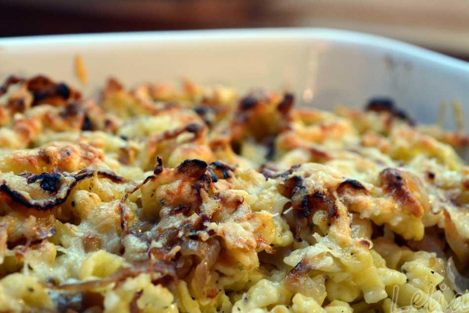Spätzle mit Pilzmehl und Trüffelöl