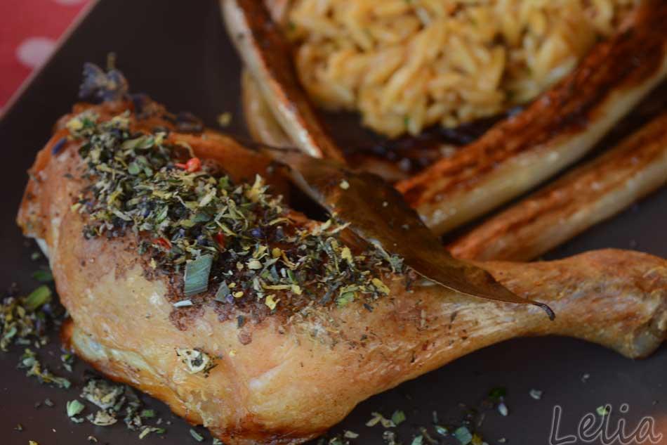 Kräutergremolata mit gebratenem Huhn