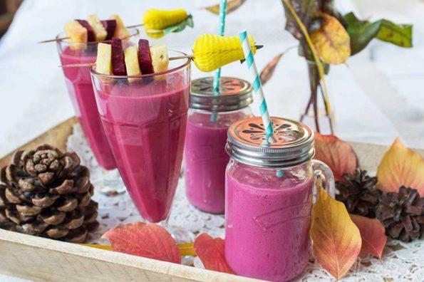 Red Smoothies, Vitamindrinks mit Rohnen für den Neujahrsmorgen!