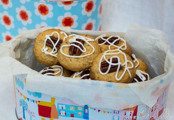 Erdnussbutter – Kekse mit Cranberries