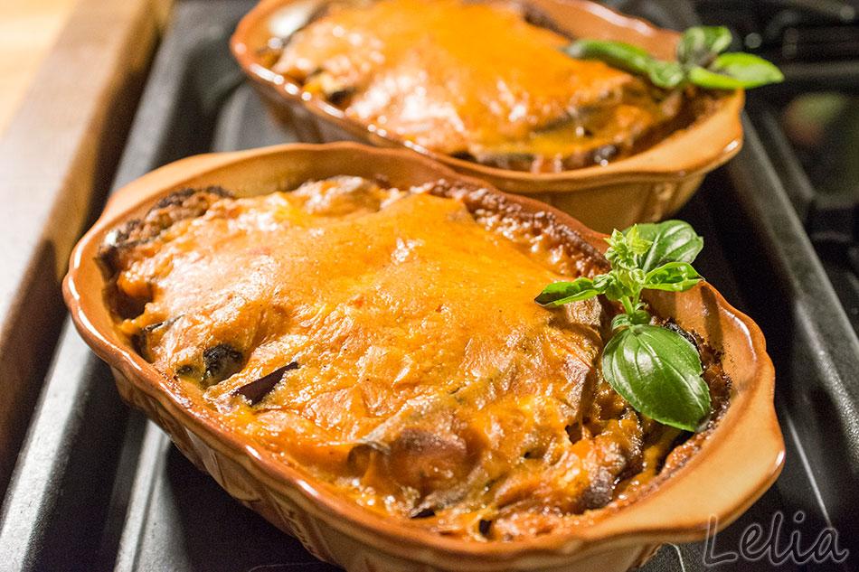 Kartoffel-Melanzani Auflauf mit Räucherfisch