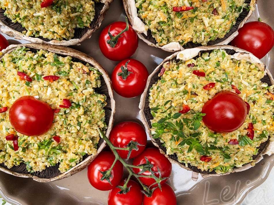 Gefülltes Gemüse aus dem Backofen, zwei leckere Ideen mit Quinoa