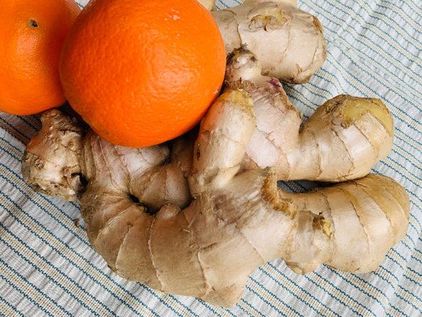 Ingwer – Orangensirup, Koriander Sesamtopping, selbst gemachte Kokosmilch: exotische Winter – Vorräte